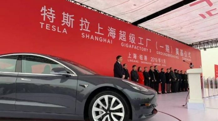 Elon Musk Started Building a Tesla Gigafactory in China