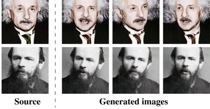Samsung's deepfake AI fabricates a motion clip of from a single photo