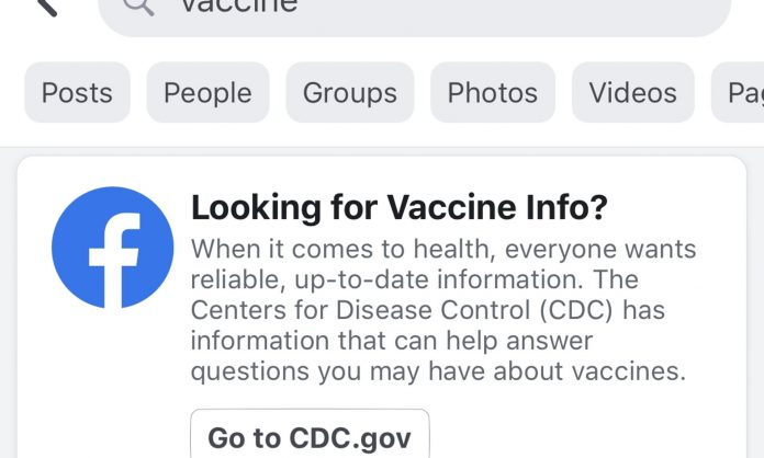 Facebook debuts vaccine pop-up windows to stop the spread of misinformation